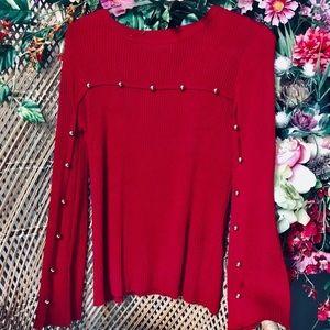 Relativity red sweater